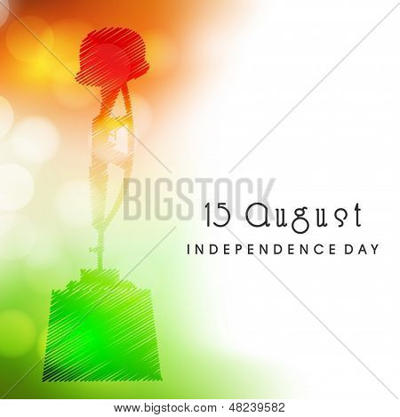 Indian Independence Day background with Amar Jawan Jyoti.
