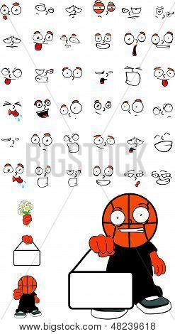 basketball face kid set4