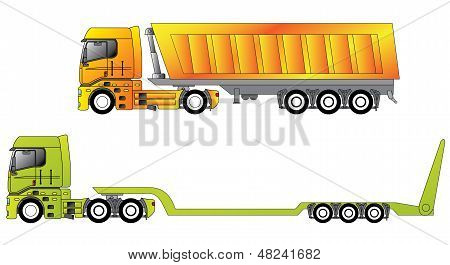 European Construction Site Trucks