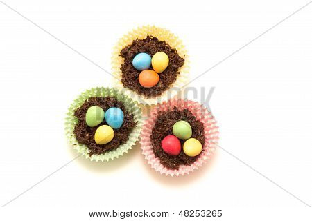 Chocolate Easter Nests And Eggs