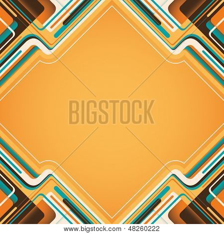 Modish layout with abstract design. Vector illustration.