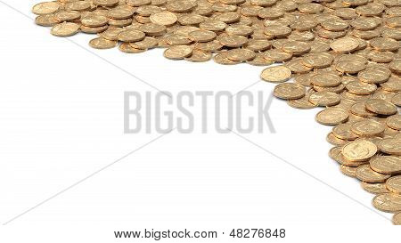 Angular Frame With Golden Coins