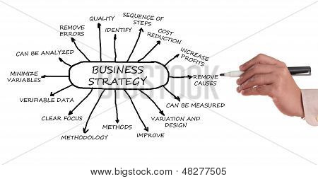 Business management strategy chart in a white background. poster