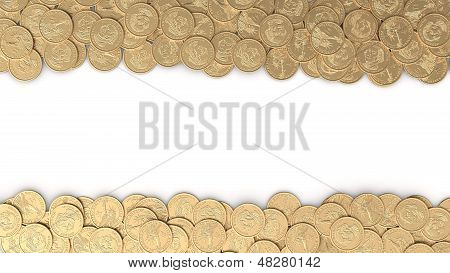Frame With Gold Coins