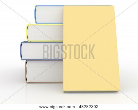 Stack Of Books With Blank Cover