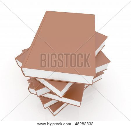 Stack Of Brown Books