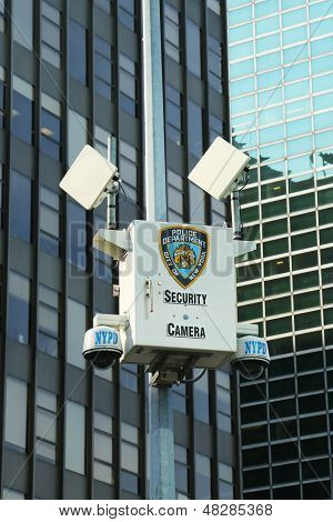 NYPD security camera in Manhattan
