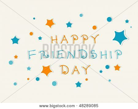 Happy Friendship Day background. poster