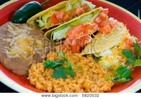 Colorful Mexican Food Plate