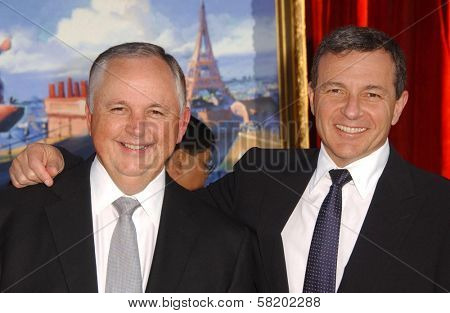 Mr. Cook and Bob Iger at the world premiere of