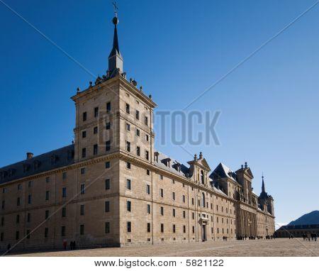 Royal Monastery Of San Lorenzo De El Escorial In Madrid, Spain