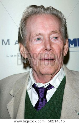 Peter O'Toole at the celebration for the Oscar nominated films