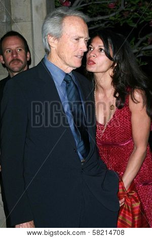 Clint Eastwood and Dina Eastwood at the Giorgio Armani Prive Show to celebrate the Oscars. Green Acres, Los Angeles, CA. 02-24-07