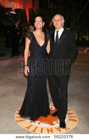 Laurie Lennard and Larry David at the 2007 Vanity Fair Oscar Party. Mortons, West Hollywood, CA. 02-25-07