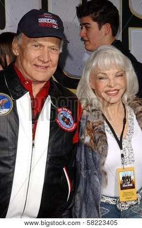 Buzz Aldrin and wife Lois at the world premiere of
