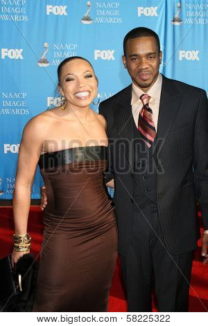 Tisha Campbell and Duane Martin at the 38th Annual NAACP Image Awards. Shrine Auditorium, Los Angeles, CA. 03-02-07