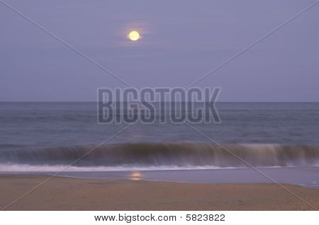 Moon Rise Sandy Hook