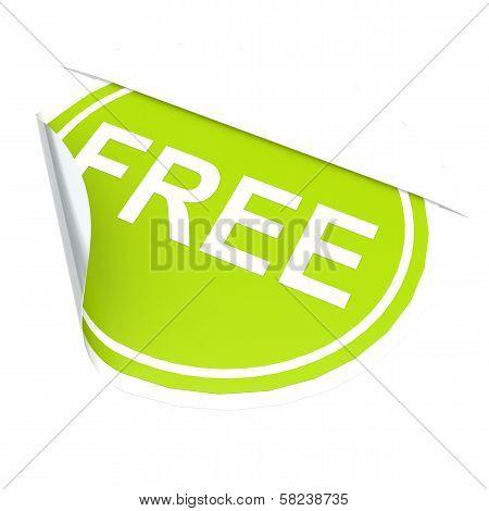 Green circle label free