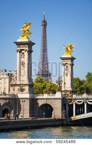 Pont Alexandre III In Paris City