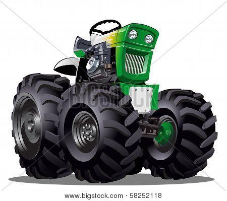 Vector Cartoon Tractor