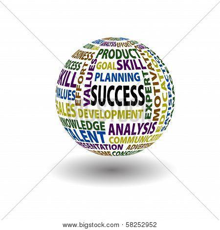 Success Words Ball