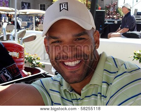 Amaury Nolasco at the 7th Annual Playboy Golf Scramble Championship Finals. Lost Canyons Golf Club, Simi Valley, CA. 03-30-07