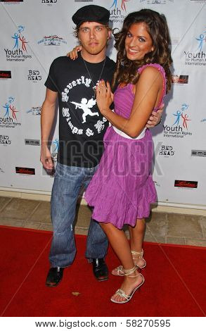 Curtis Murphy and Bridgetta Tomarchio at a Fashion and Music Extravaganza Promoting Human Rights for Youth. Church of Scientology Celebrity Centre Pavilion, Los Angeles, CA. 04-14-07