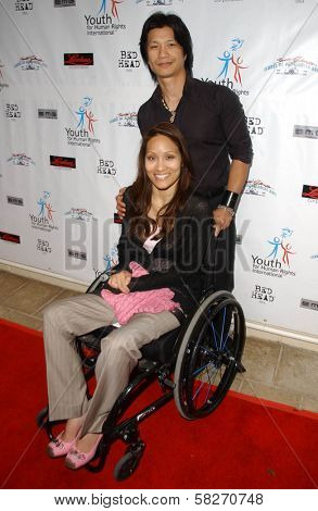 Dustin Nguyen and wife Angela at a Fashion and Music Extravaganza Promoting Human Rights for Youth. Church of Scientology Celebrity Centre Pavilion, Los Angeles, CA. 04-14-07