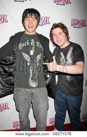 Vinnie Pergola and Kyle Kaplan at the Launch of Kwel Magazine. Gibson Baldwin Showroom, Beverly Hills, CA. 04-14-07