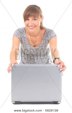 Happy Teenager With Notebook
