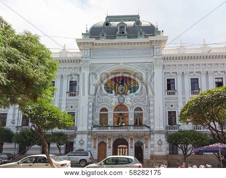Chuquisaca Governorship Palace in Sucre, Bolivia