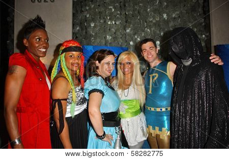 L-R Whip-Snap, Braid, Hygena, Ms. Limelight, Parthenon and Dr. Dark at the