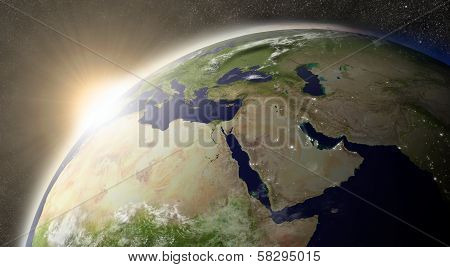 Sun Over Middle East