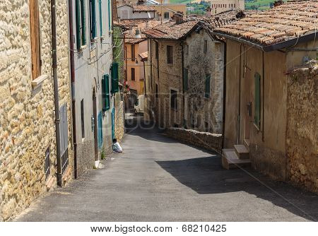 Narrow Street In The Old Town In Italy