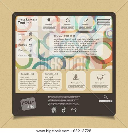 Website design, vector