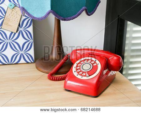 Red Vintage Telephone