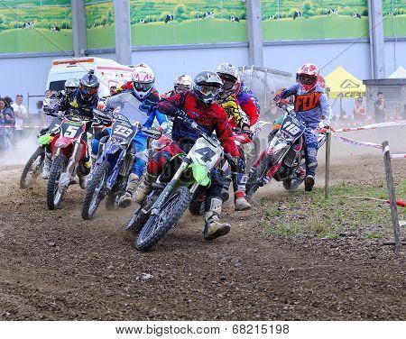 Motorcross In El Berron, Asturias, Spain..