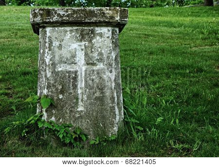 Old Grave With Cross