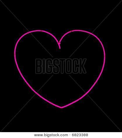 Bright Pink Neon Heart