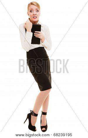 Afraid Businesswoman