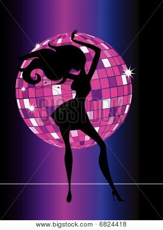 Sexy Disco Party Girl