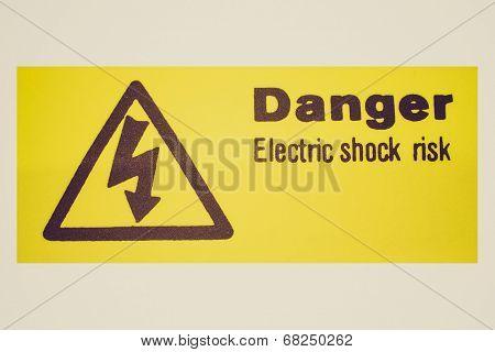 Retro Look Electric Shock Sign