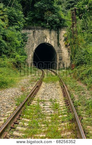 Abandoned Railway Tunnel in Sukhum, the capital of Abkhazia poster