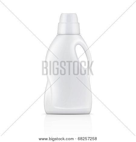 White bottle for liquid laundry detergent.