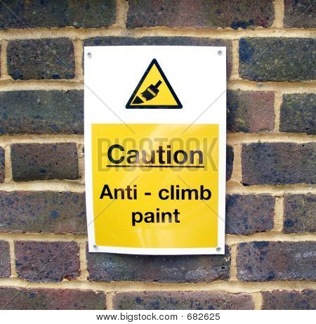 Sign Anticlimb B