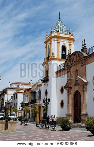 Church in town square, Ronda.