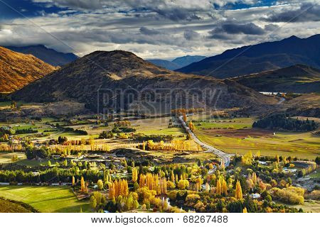 Mountain landscape, near Queenstown, New Zealand