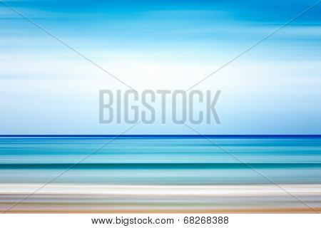 Abstract background. Sea and coastline. Pure ocean water and sky. poster