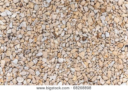 Texture or background made of gravel stones poster