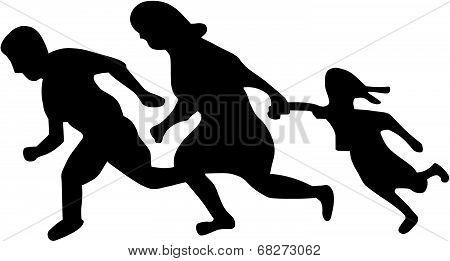 Running Family / Running Immigrants Sign